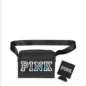 Victoria's Secret PINK cooler bag with coozie NWT